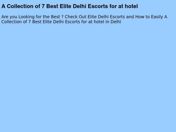 elitedelhiescorts.com