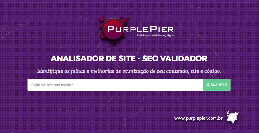Analisador de sites #PurplePier